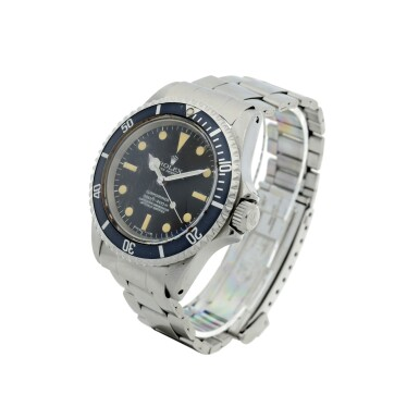 View 2. Thumbnail of Lot 102. ROLEX   REFERENCE 5512 SUBMARINER A STAINLESS STEEL AUTOMATIC WRISTWATCH WITH BRACELET, CIRCA 1965.
