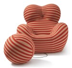 """GAETANO PESCE   """"UP-5 DONNA"""" CHAIR AND """"UP-6"""" OTTOMAN"""