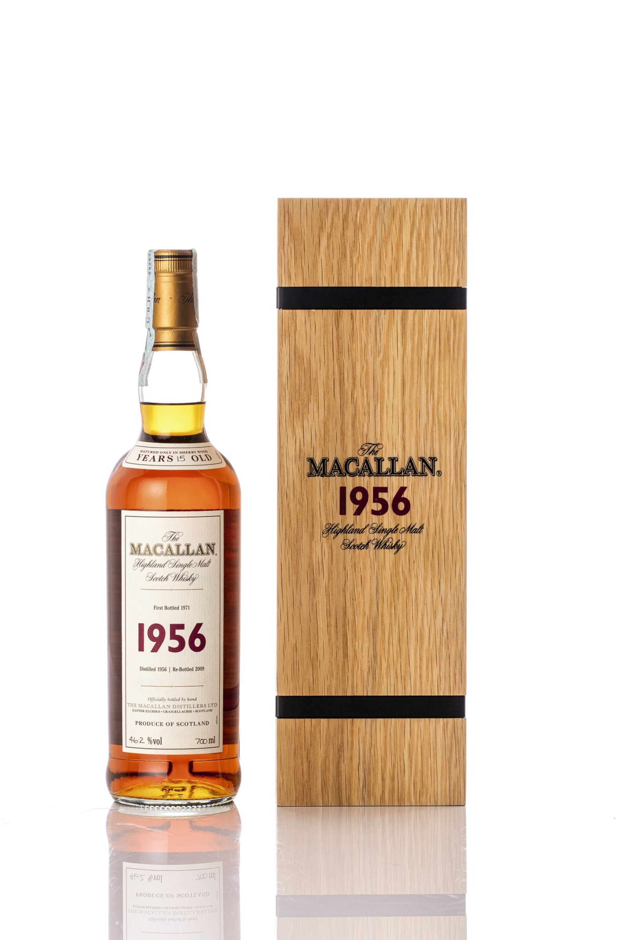 View full screen - View 1 of Lot 5519. The Macallan Fine & Rare 15 Year Old 46.2 abv 1956 (1 BT70).