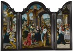 A triptych: The Nativity, The Adoration of the Magi, The Presentation in the Temple