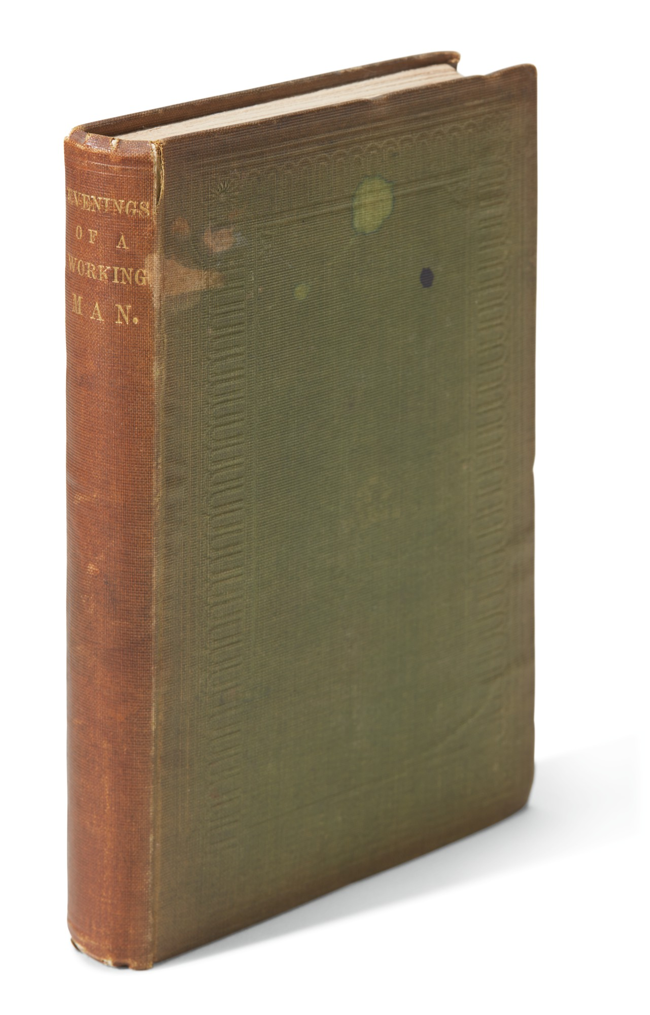 Overs--[Dickens], Evenings of a Working Man, 1844, first edition, unrecorded variant binding