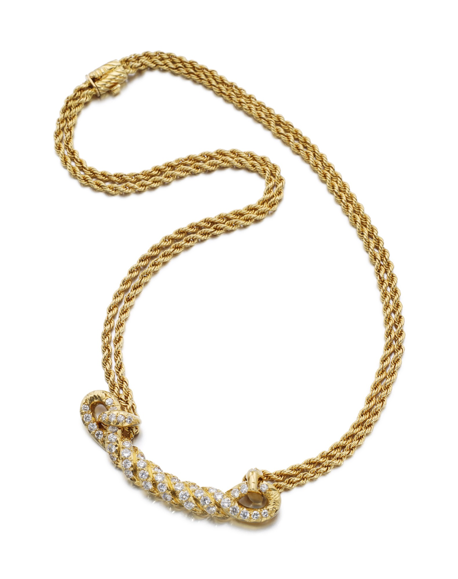 GOLD AND DIAMOND NECKLACE | VAN CLEEF & ARPELS