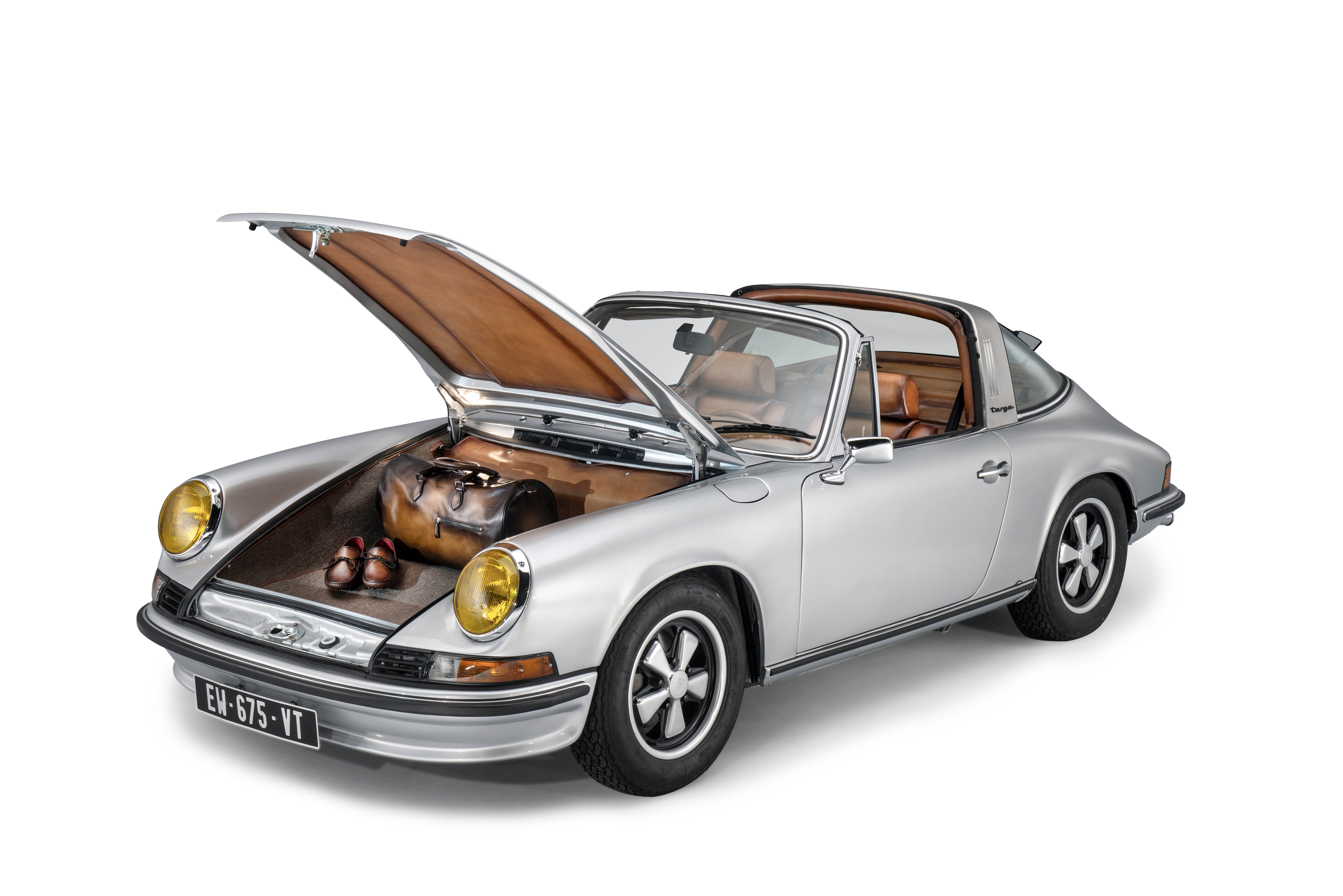 View full screen - View 1 of Lot 1. Berluti | Porsche, Bag and Driving Shoes (Porsche, Sac et Souliers de Conduite) [3 Items /Articles].