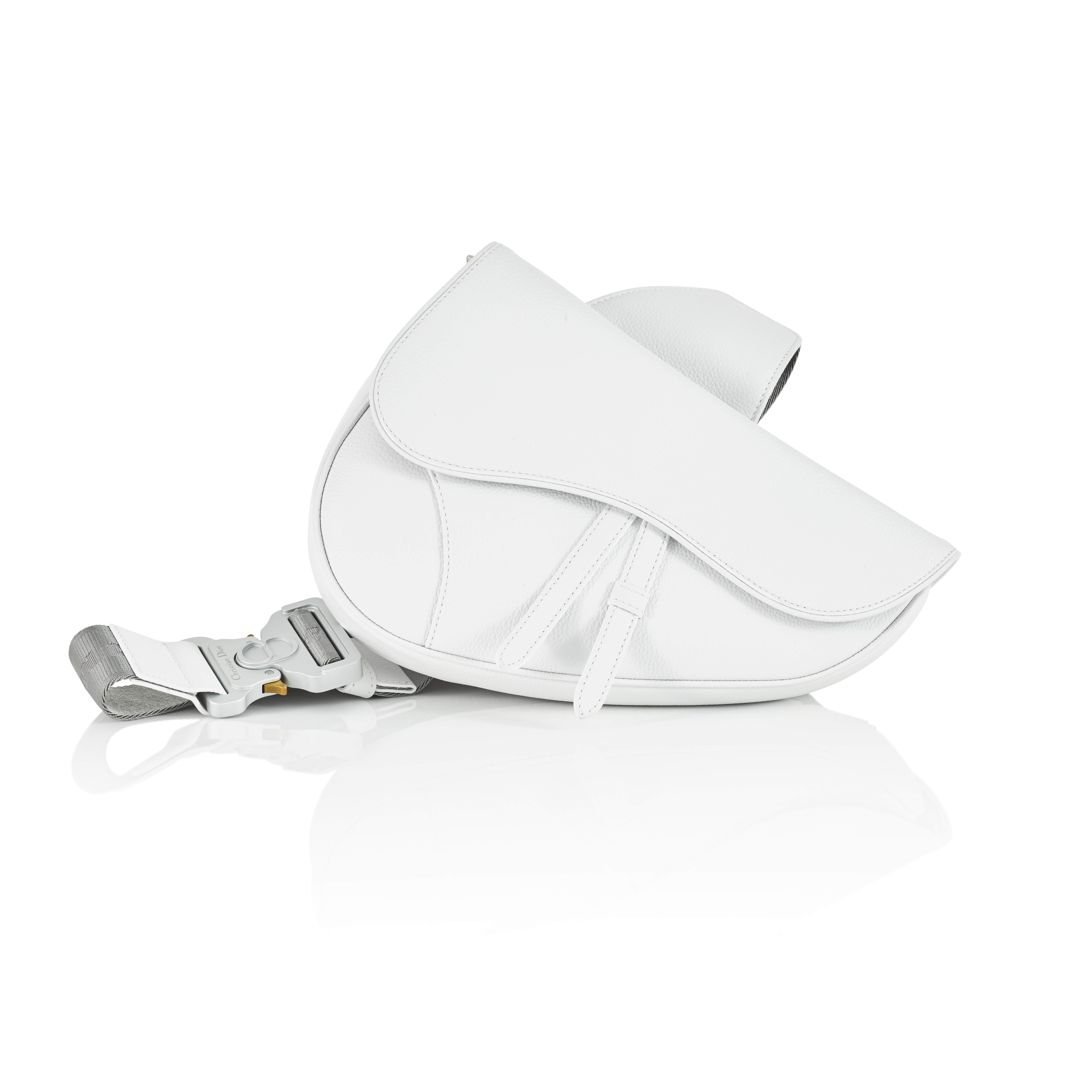View full screen - View 1 of Lot 71. White Saddle Bag in Calfskin Leather, 2019.