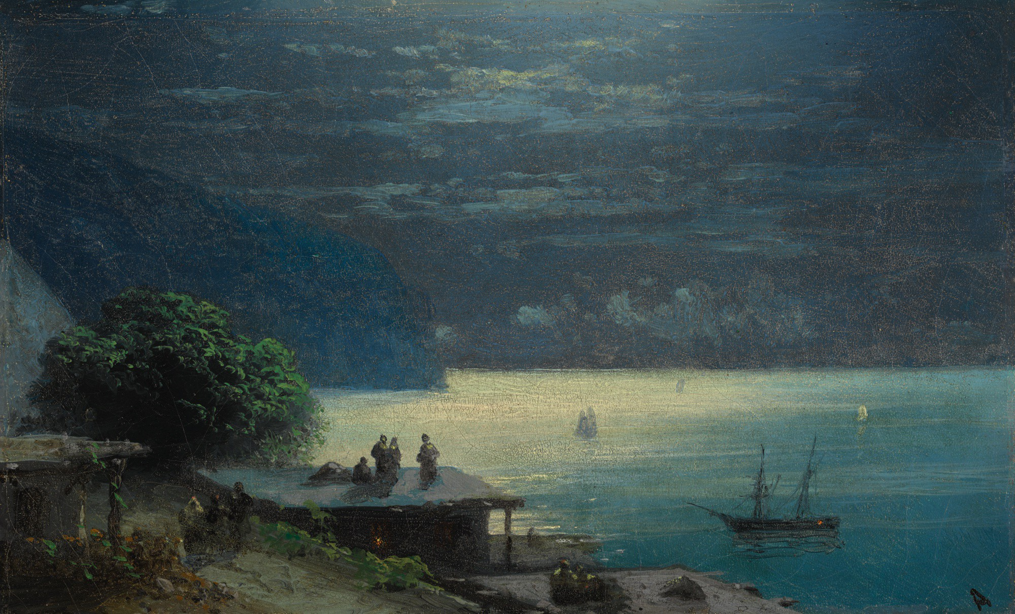 IVAN KONSTANTINOVICH AIVAZOVSKY | CRIMEAN COAST BY MOONLIGHT