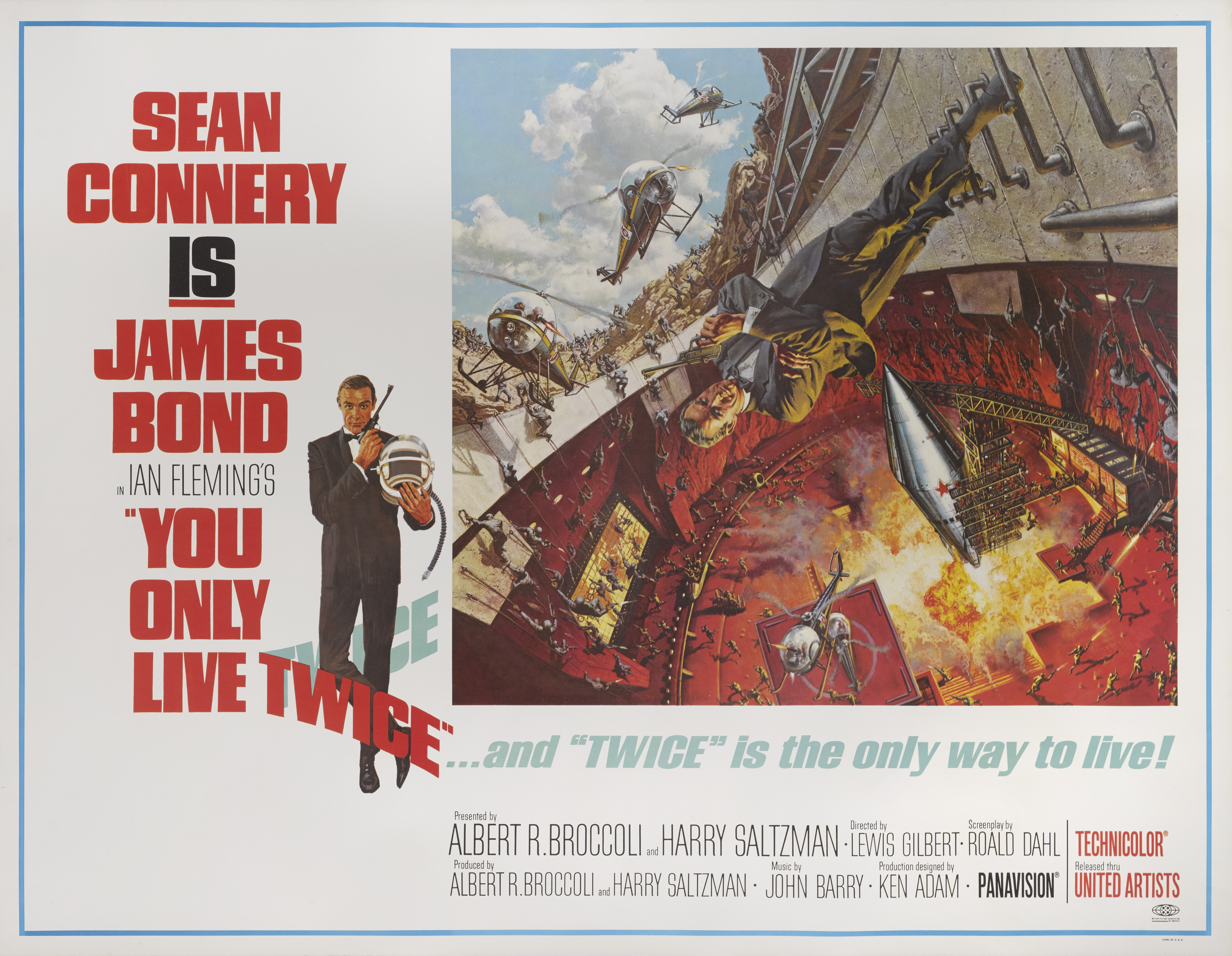 YOU ONLY LIVE TWICE (1967) POSTER, US, SUBWAY STYLE A (VOLCANO)