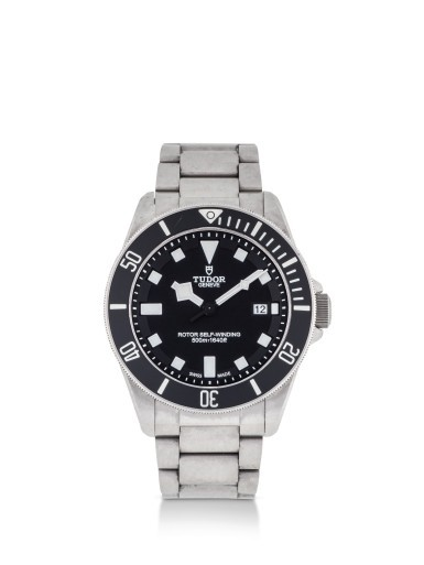 TUDOR | PELAGOS, REFERENCE 25500T, TITANIUM AND STAINLESS STEEL WRISTWATCH WITH DATE AND BRACELET, CIRCA 2012