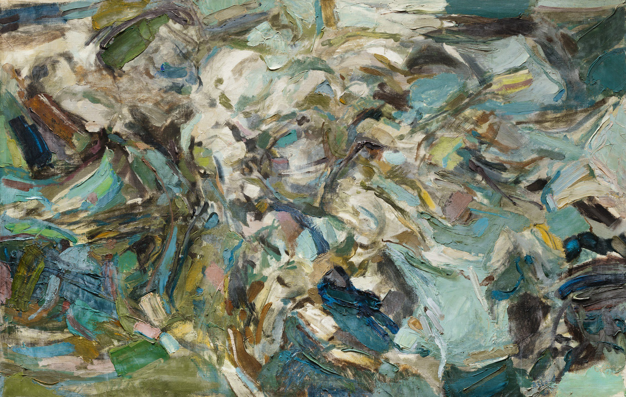 SHAFIC ABBOUD | BLEUS ROMPUS (BROKEN BLUE), N°91