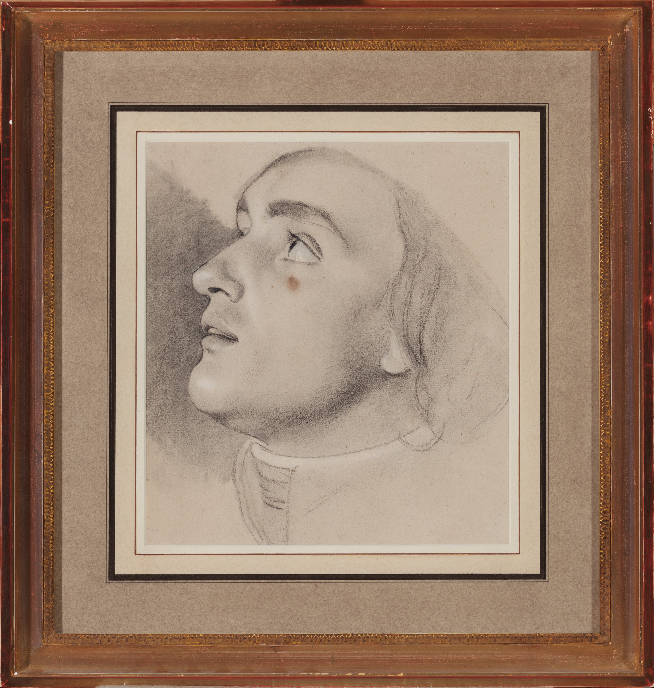 View full screen - View 1 of Lot 61. Study for the head of Jean-Baptiste Boyer-Fonfrede.