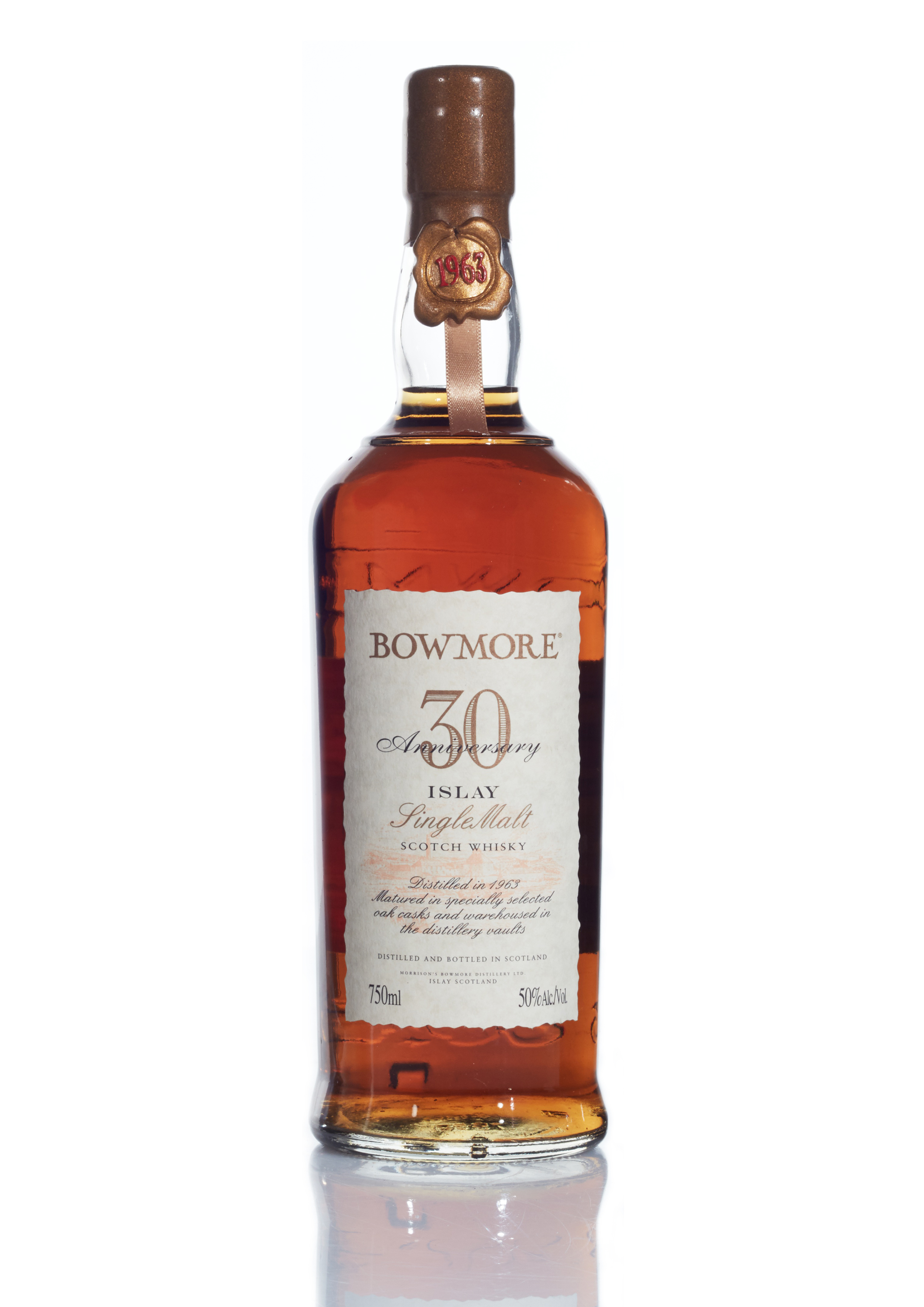 View full screen - View 1 of Lot 85. Bowmore 30th Anniversary 50.0 abv 1963 (1 BT75).