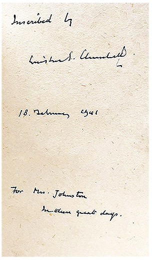 View full screen - View 1 of Lot 55. Winston S. Churchill | The War Speeches. London: Cassell and Co., 1941-1946.
