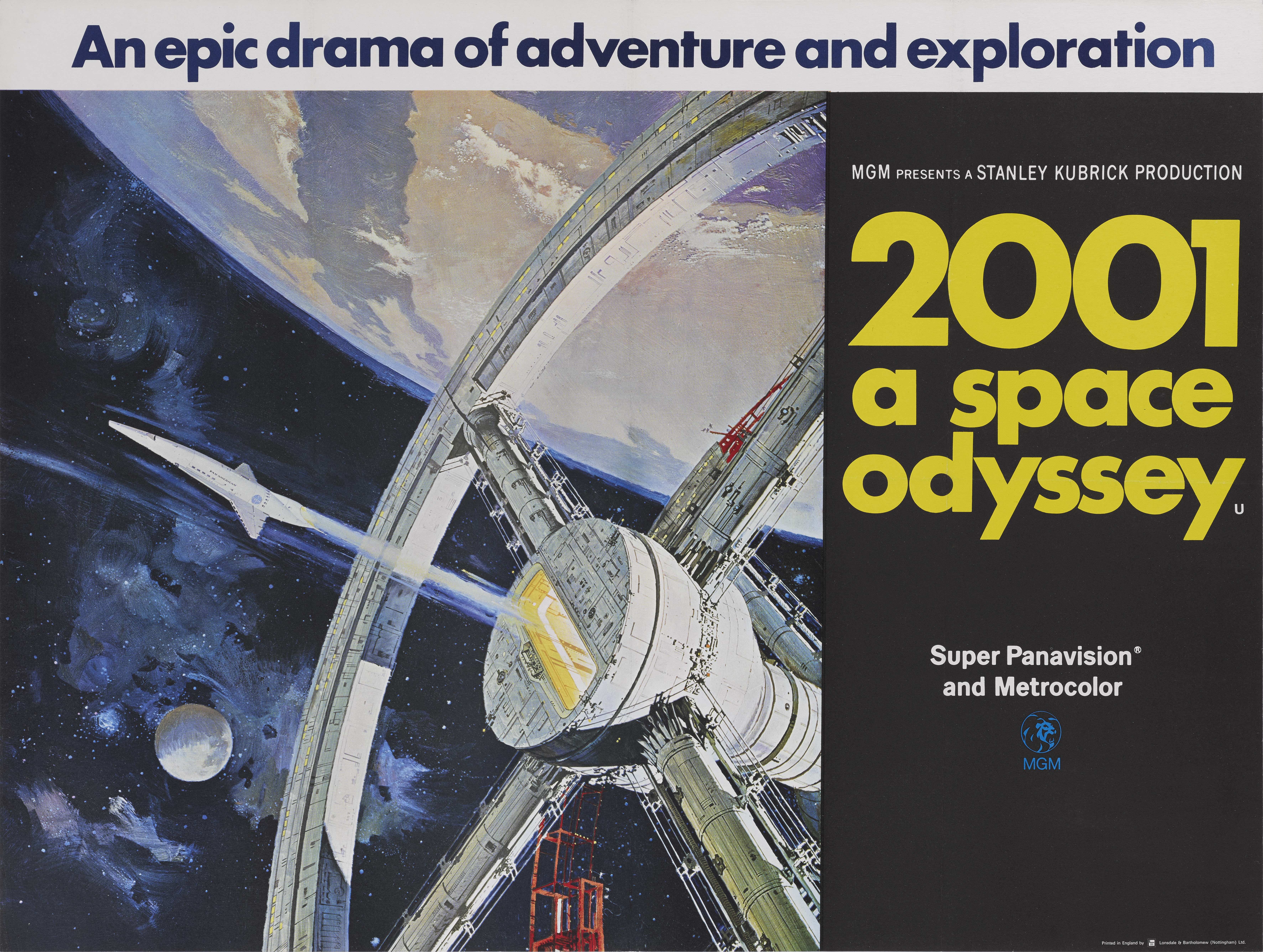 View full screen - View 1 of Lot 32. 2001: A Space Odyssey (1968) Poster, British, Style A.