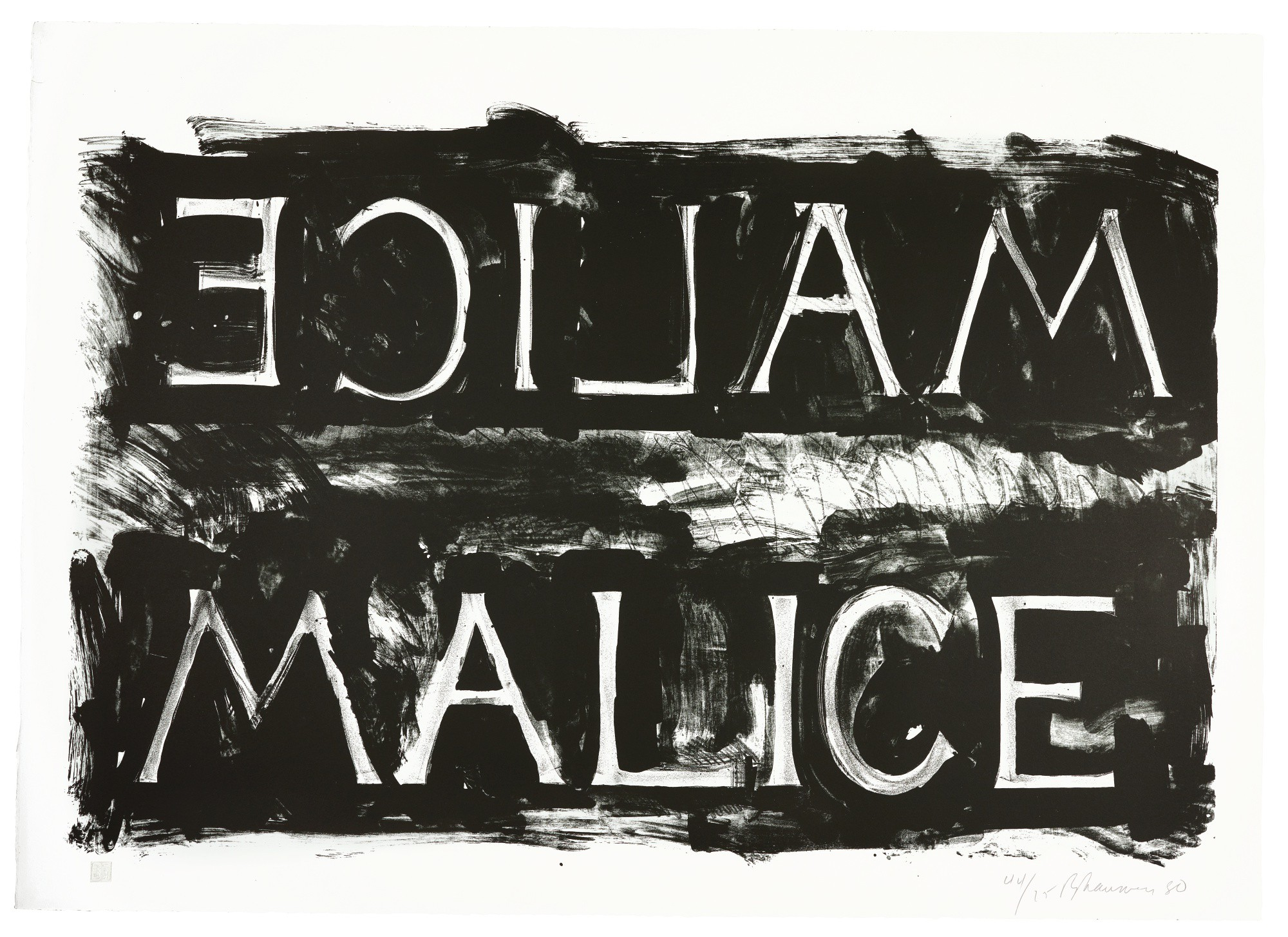 BRUCE NAUMAN | MALICE (CORDES 37)