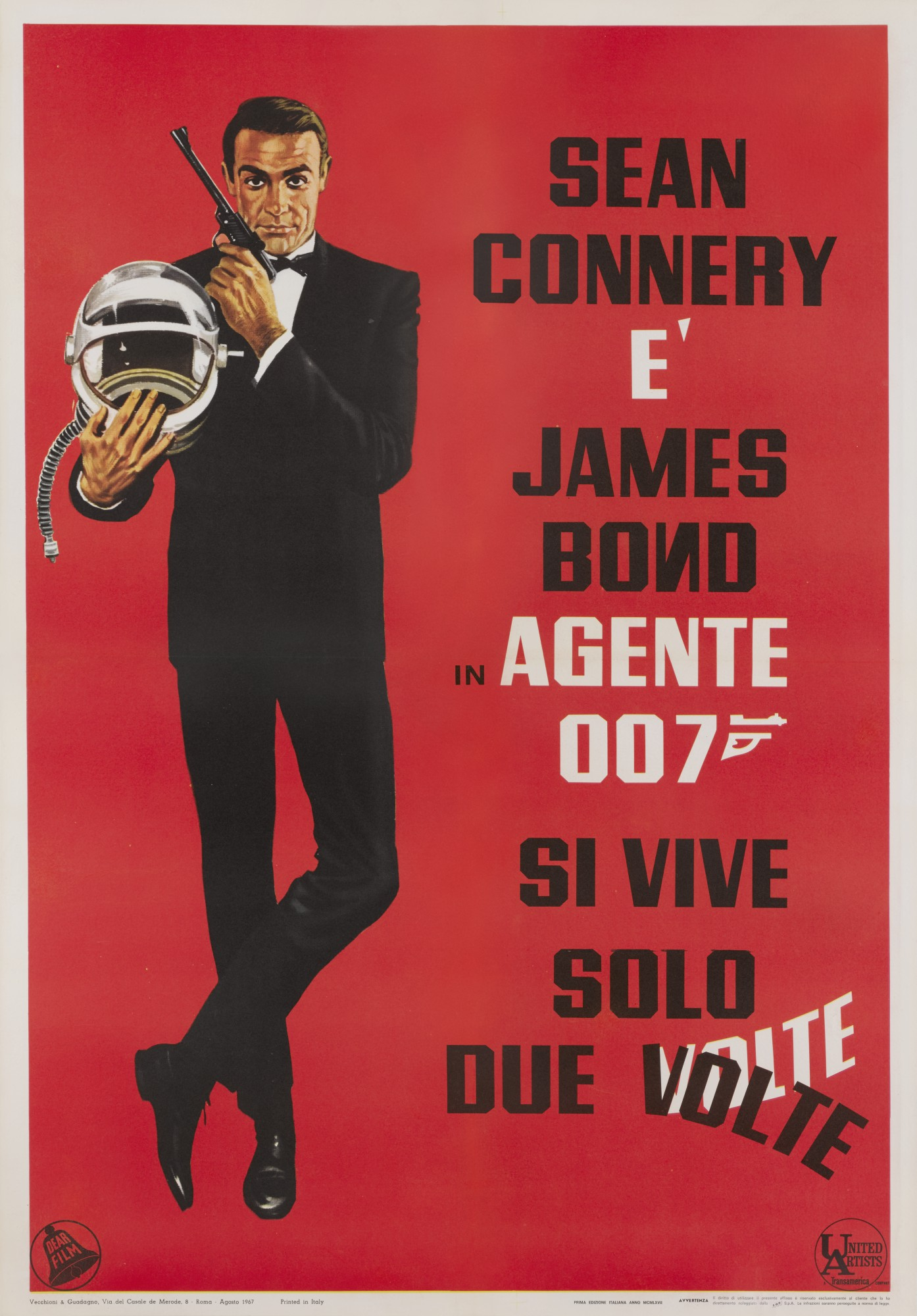 YOU ONLY LIVE TWICE/SI VIVE SOLO DUE VOLTE (1967) POSTER, ITALIAN