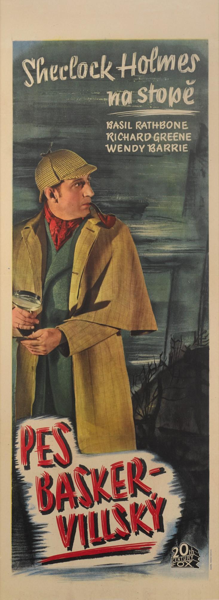 HOUND OF THE BASKERVILLES / PES BASKER-VILLSKY (1939) POSTER, CZECHOSLOVAKIAN