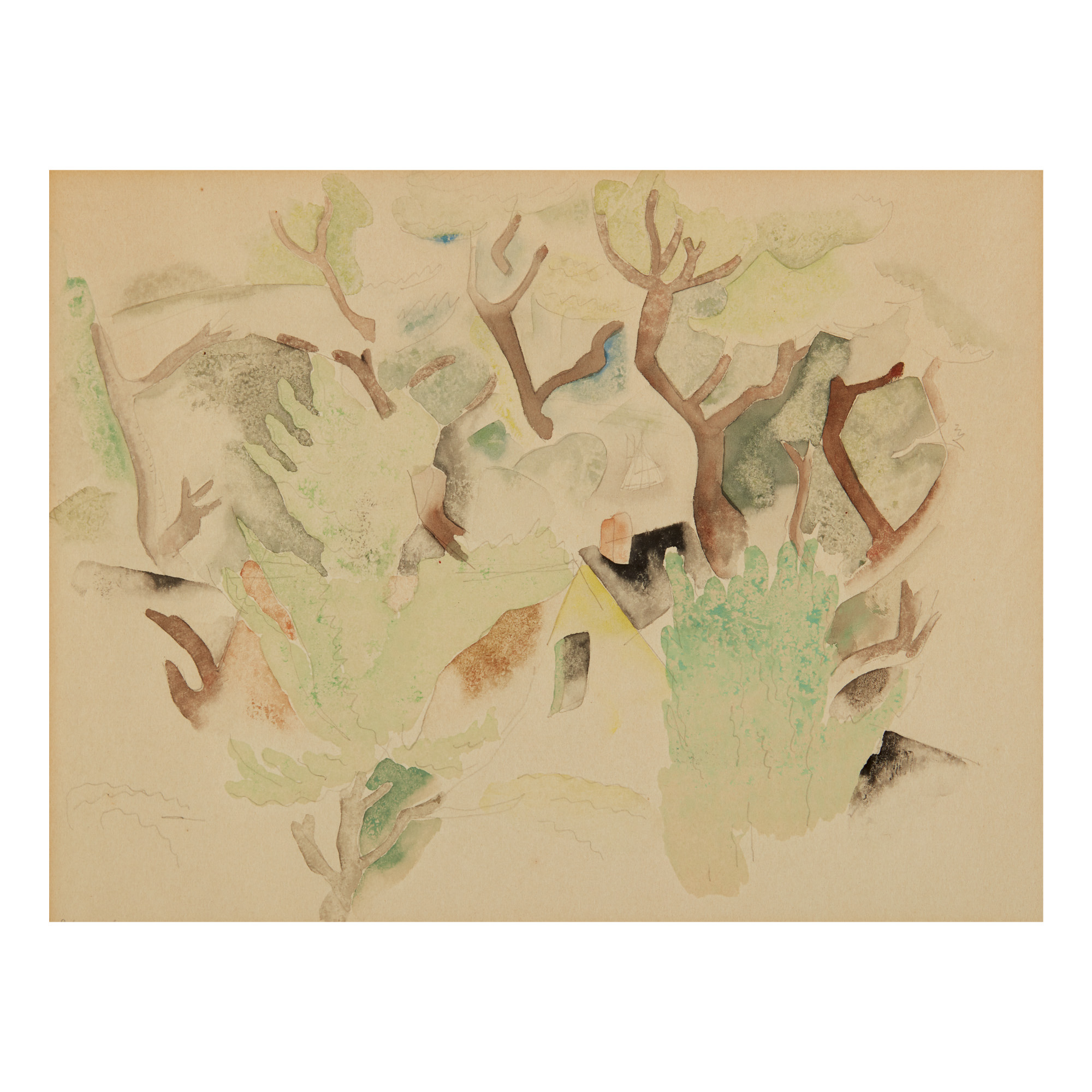 CHARLES DEMUTH   HOUSE AND TREE FORMS