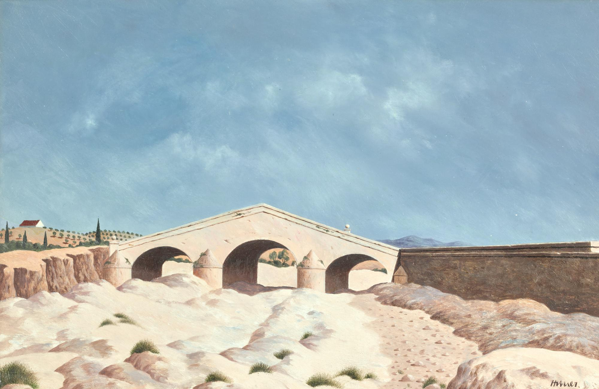 TRISTRAM HILLIER, R.A. | THE DRY RIVER BED RIO GUADALBULLÓN