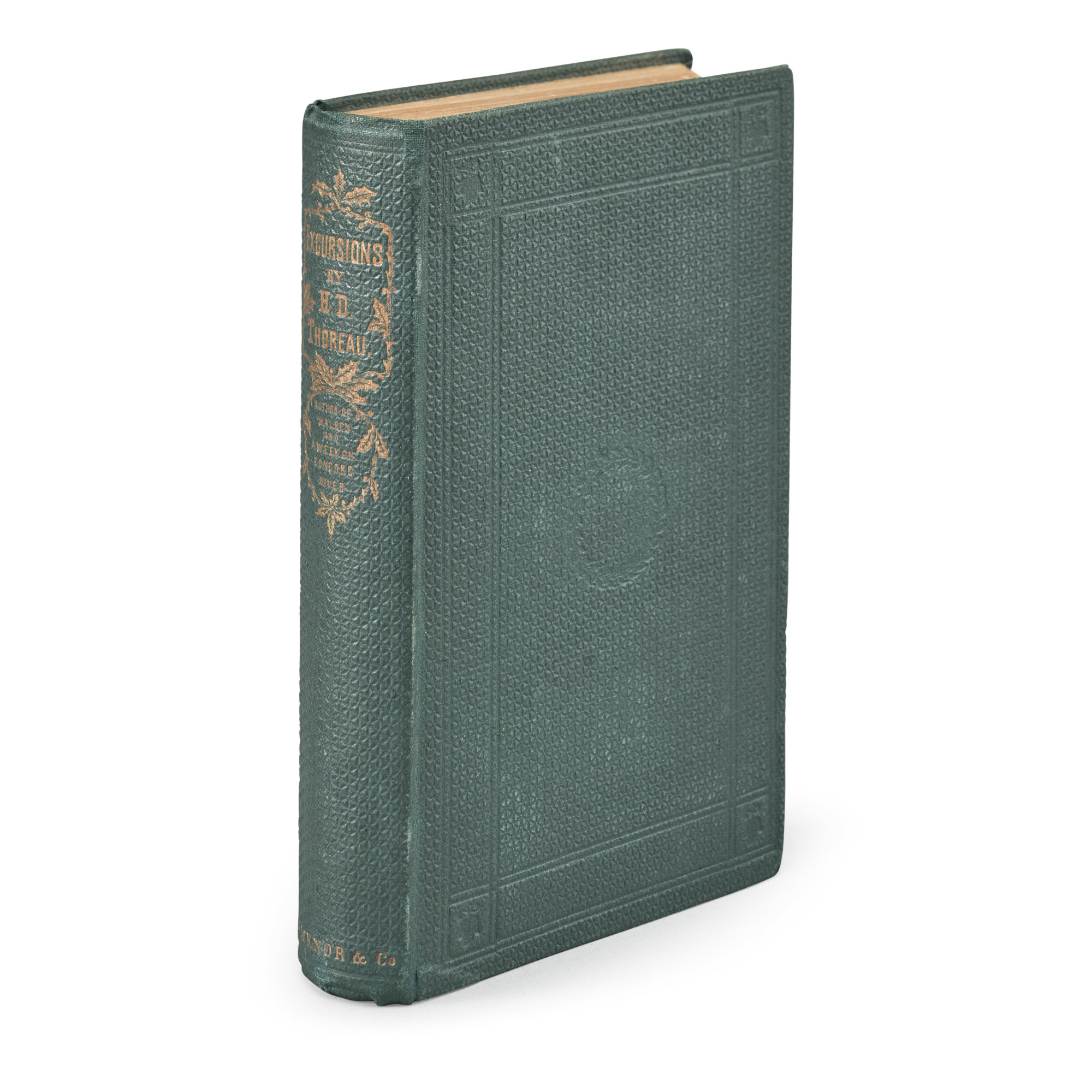 THOREAU, HENRY DAVID | Excursions. Boston: Ticknor and Fields, 1863
