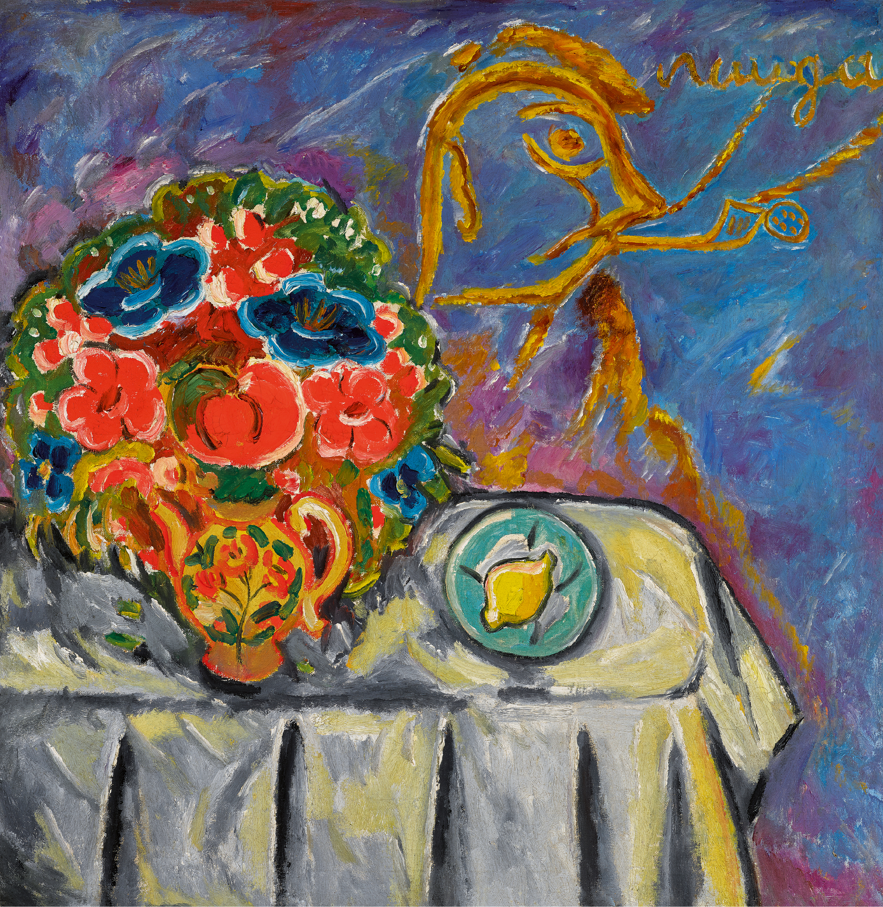 View full screen - View 1 of Lot 56. MIKHAIL FEDOROVICH LARIONOV | Still Life .
