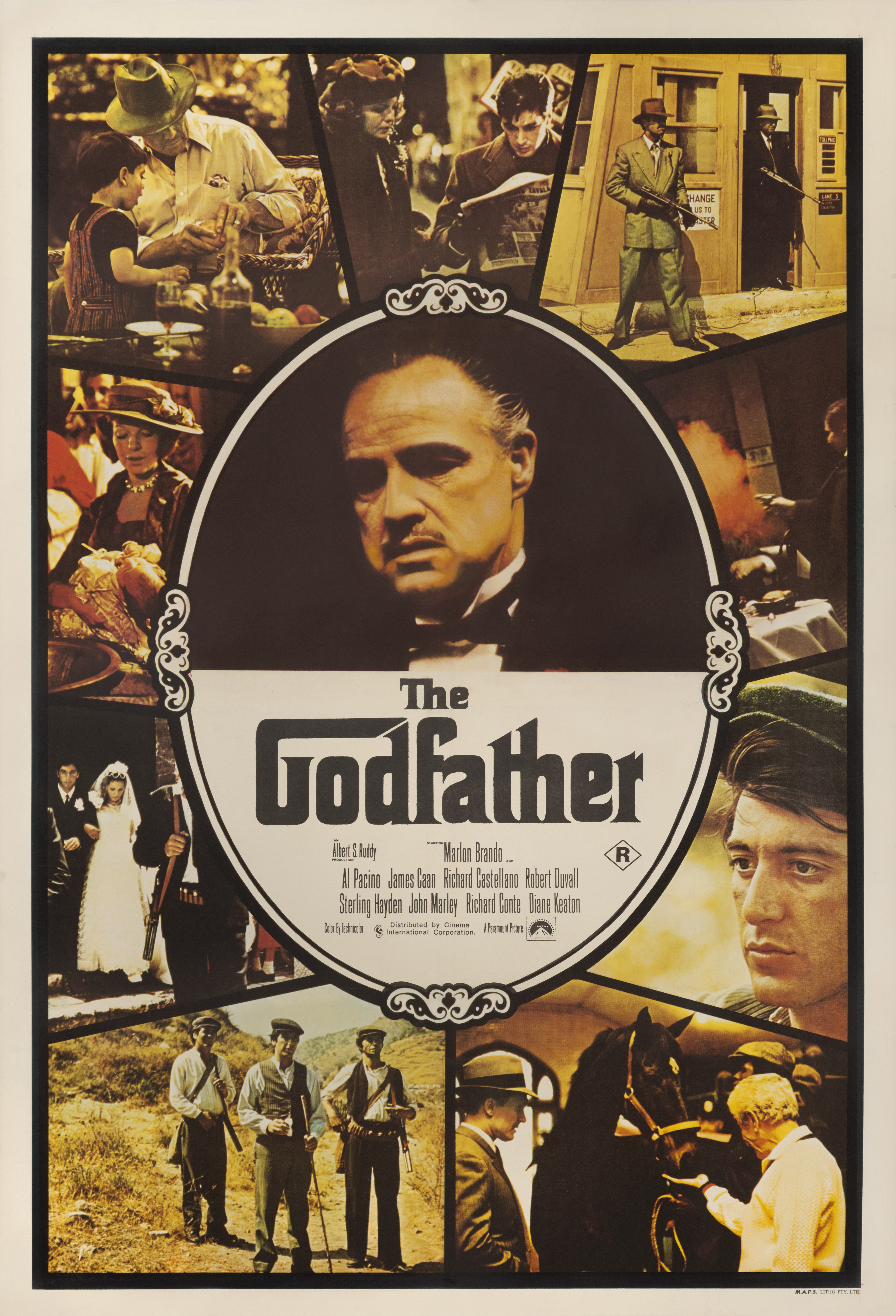 View full screen - View 1 of Lot 19. The Godfather (1972) Poster, Australian  .