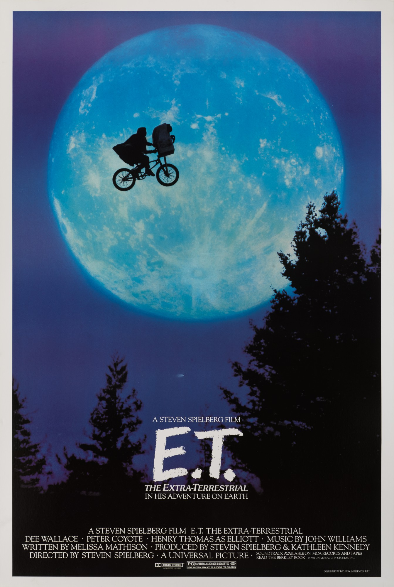 E.T. THE EXTRA TERRESTRIAL (1982) POSTER, US