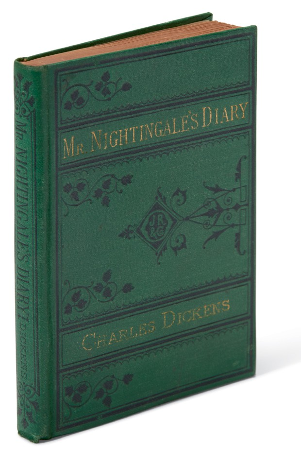 Dickens, Mr. Nightingale's Diary, 1877, first American edition