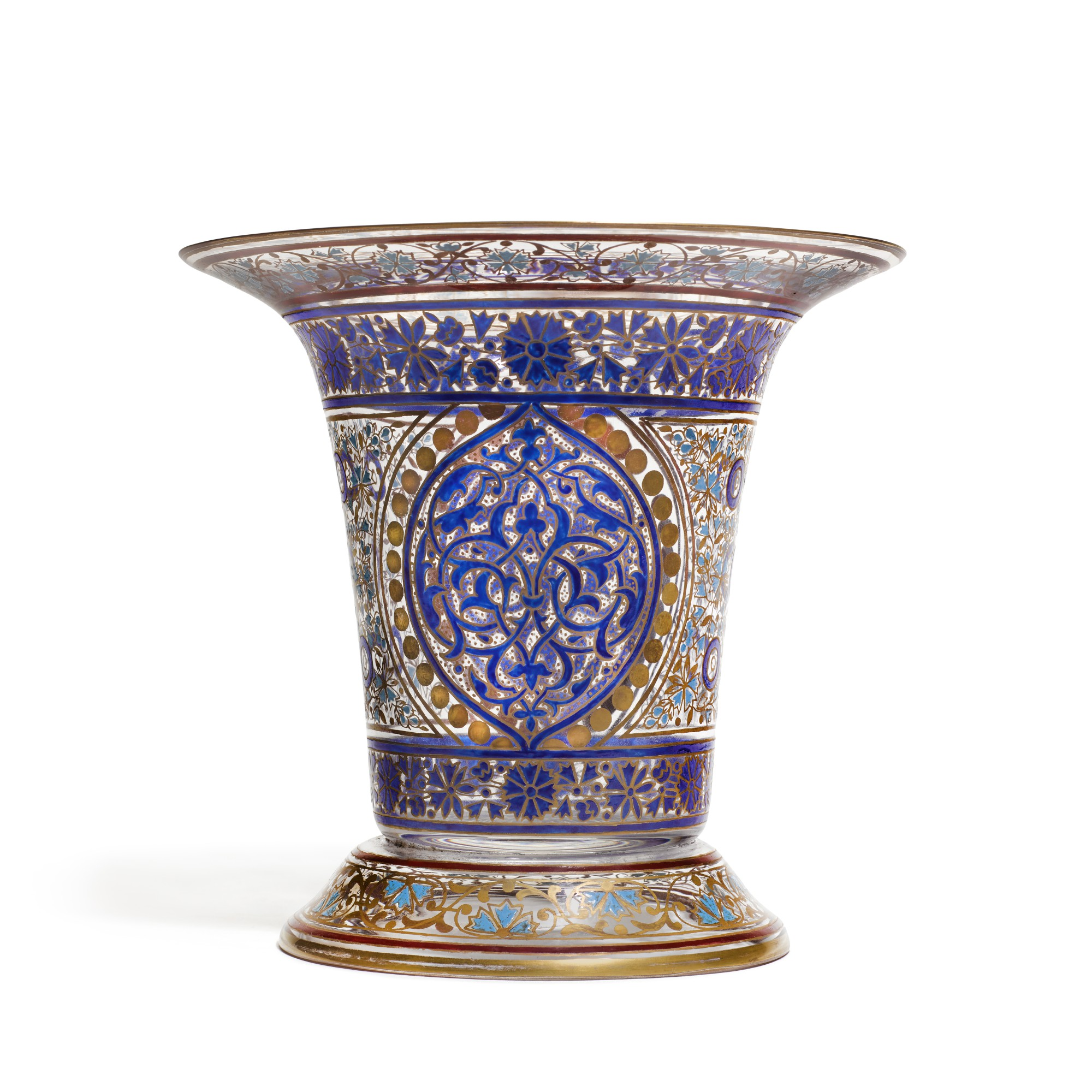 A J L Lobmeyr Enamelled Glass Flared Vase In The Islamic Taste Circa 1878 Style Furniture Silver Clocks Ceramics And Vertu2020 Sotheby S