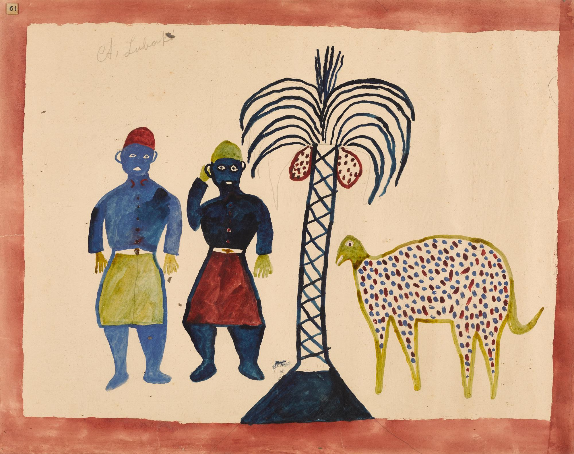ALBERT LUBAKI | UNTITLED (TWO MEN WITH COCONUT TREE) | Modern and ...