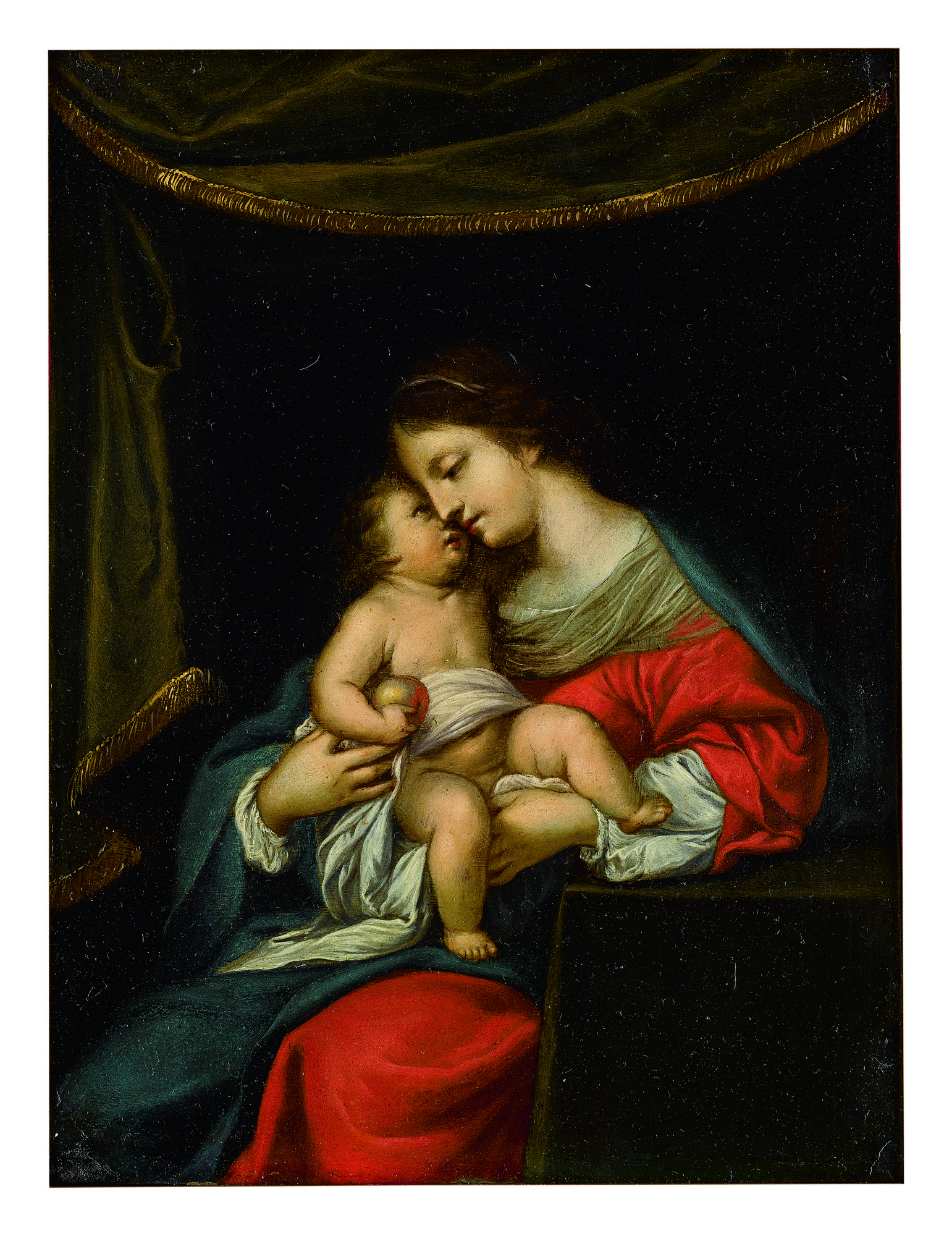 CIRCLE OF JACQUES STELLA | VIRGIN AND CHILD HOLDING AN APPLE