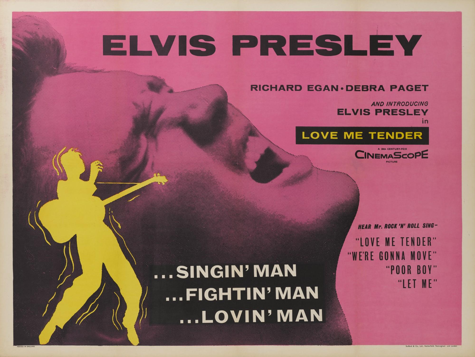 LOVE ME TENDER (1956) POSTER, BRITISH